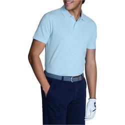 Polo de golf hombre manga corta 500 tiempo templado azul turquesa jaspeado