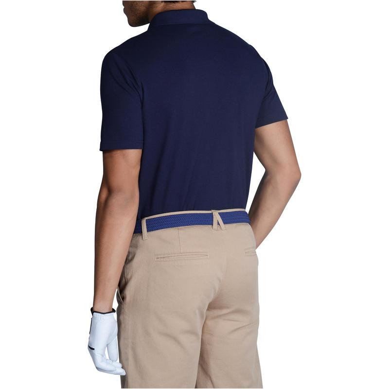 Polera polo de golf hombre manga corta 500 clima caluroso azul marino