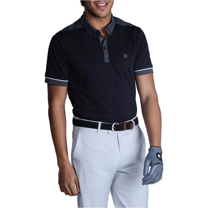 Golf Poloshirt 900 Herren schwarz/dunkelgrau