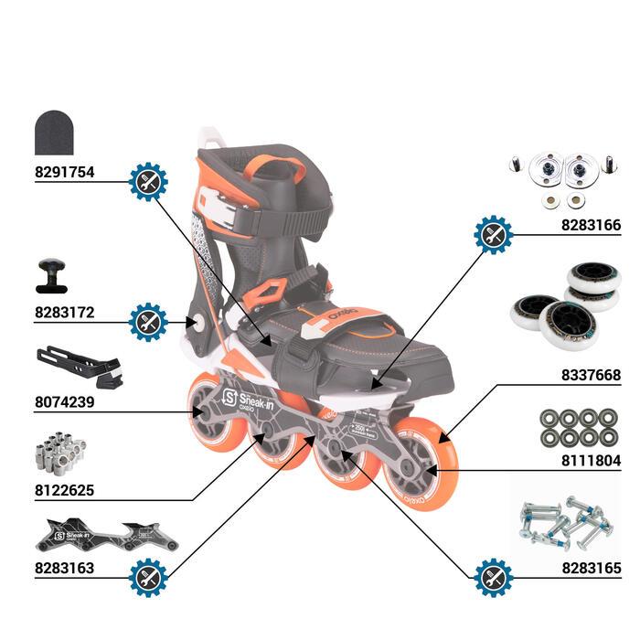 Roller adulte mobilité urbaine SNEAK-IN orange noir - 112166