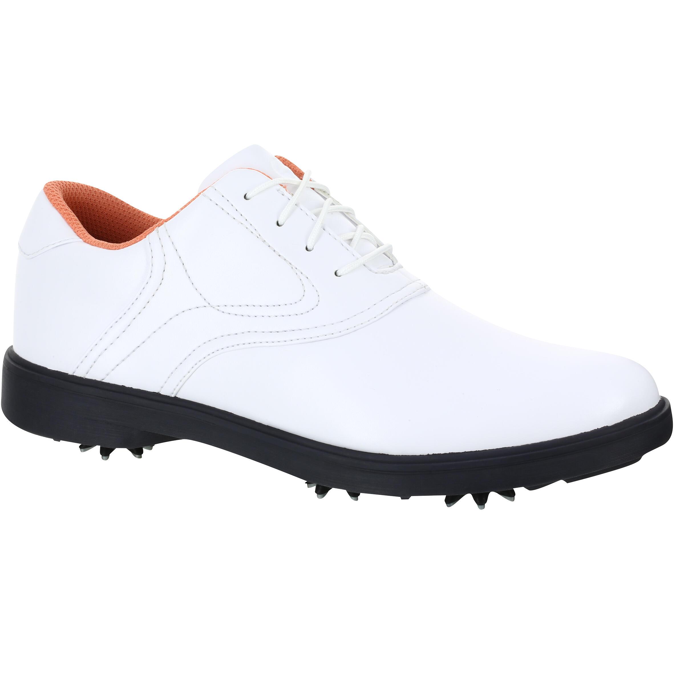 2185501 Inesis Golfschoenen Spike 500 voor dames wit