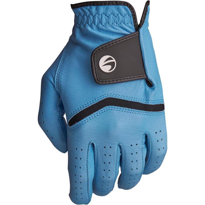 Golfhandschoen 500 voor heren, gevorderde en ervaren spelers, rechtshandig blauw