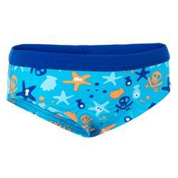 Badehose Slip Baby Print Hook blau
