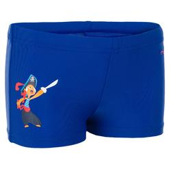 Titou Baby Boys' Boxer-Style Swim Shorts - Hook Blue