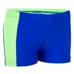 Maillot de bain bébé boxer titou empiècement bleu vert