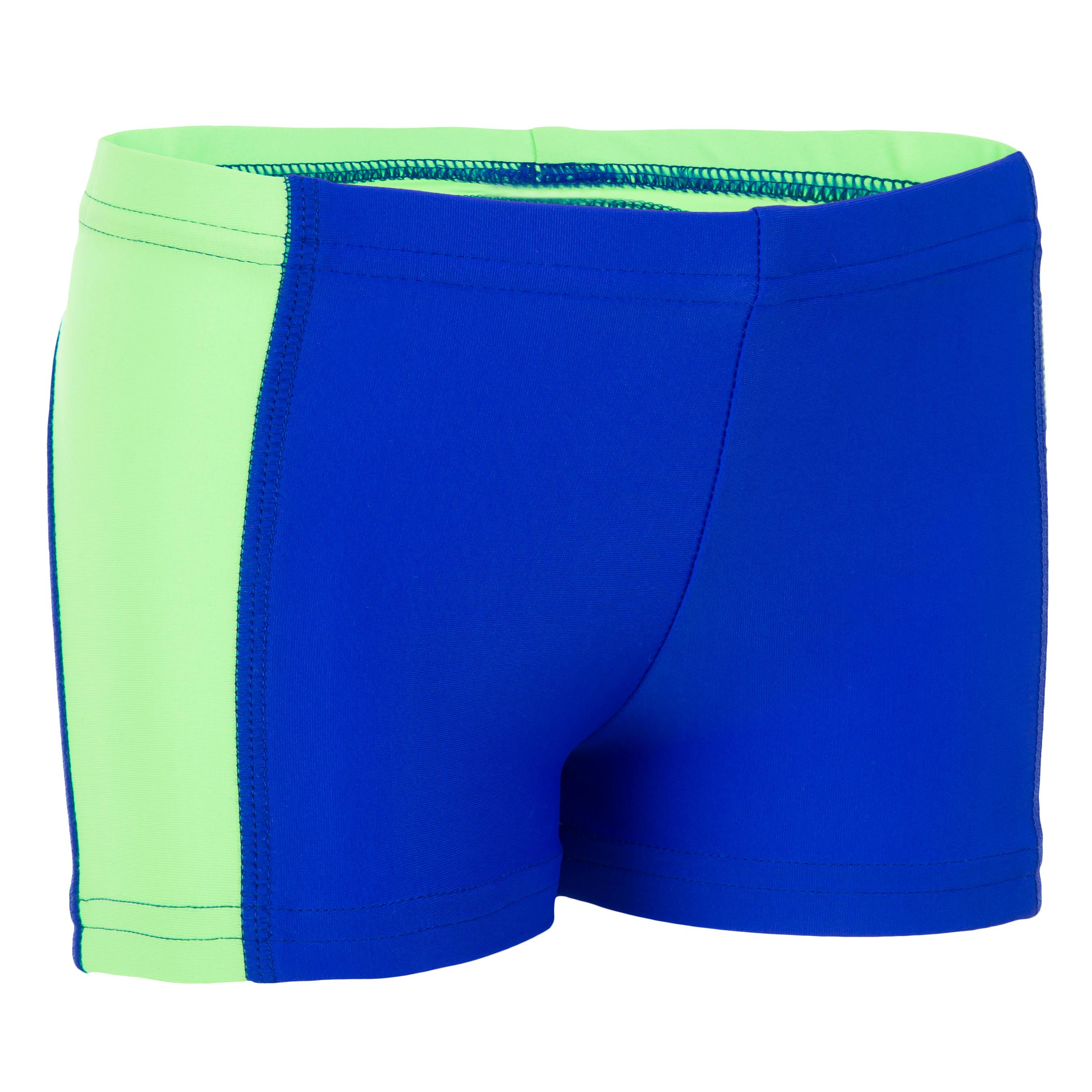 Titou Baby Boys' Boxer-Style Swim Shorts - Yoke Blue Green