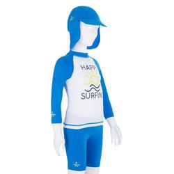 Uv-werende set van pet, kuitbroek en shirt voor peuters Surf