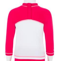Conjunto gorra corsario camiseta anti-UV surf bebé Rosa