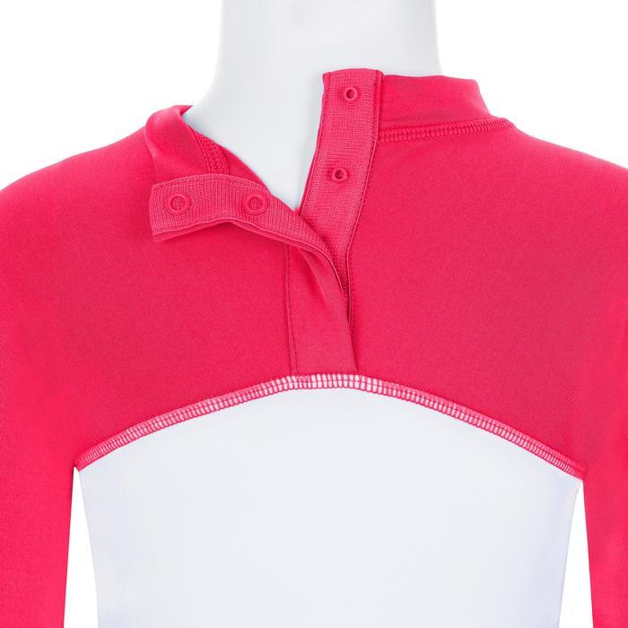 Uv-werende set van pet, kuitbroek en shirt voor peuters Surf roze
