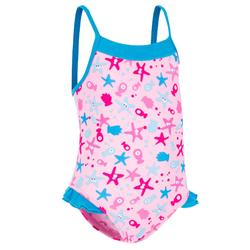 Madina+ Baby Girls' One-Piece Swimsuit - All Sia Pink