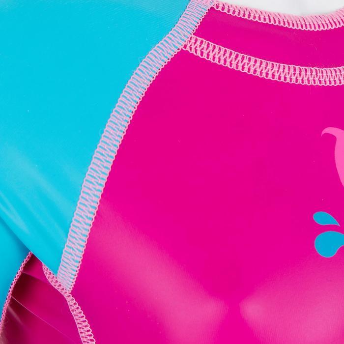 Bañador Neopreno Bebe Natación Kloupi Nabaiji Shorty Rosa/Azul Estampado