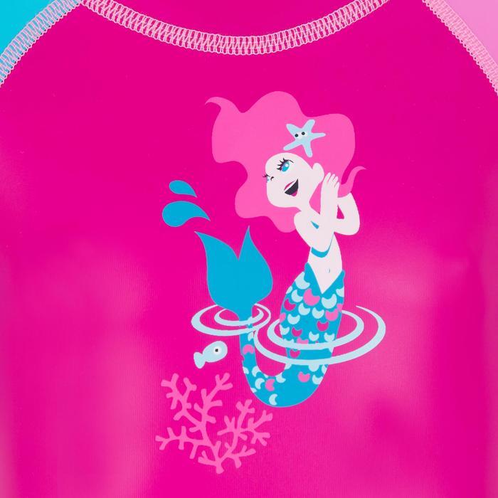 Bañador Neopreno Bebe Natación Nabaiji Shorty Manga Corta Rosa/Azul Estampado
