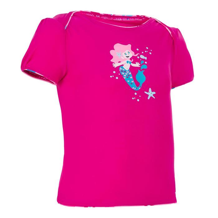 """Maillot de bain bébé fille tankini top rose avec imprimé """"papillons"""" - 1122112"""