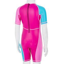 Badeanzug Shorty Kloupi Baby Print pink/blau