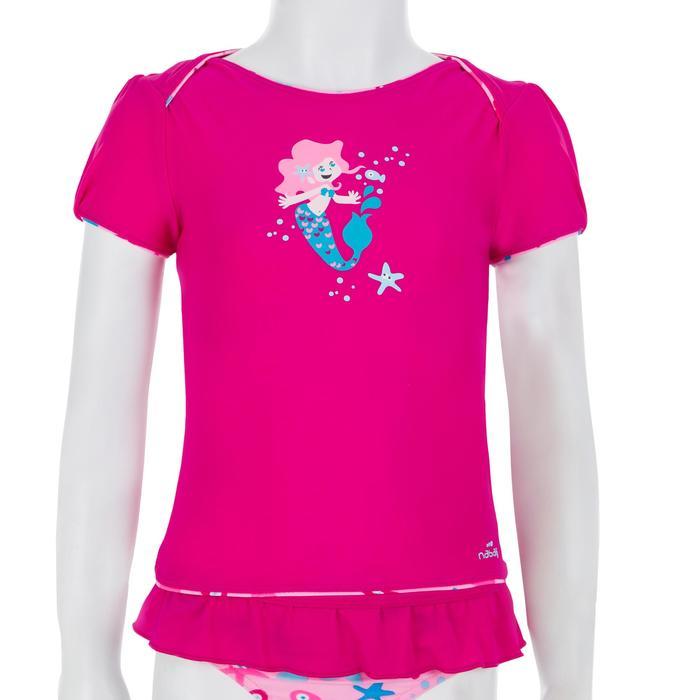 """Maillot de bain bébé fille tankini top rose avec imprimé """"papillons"""" - 1122122"""
