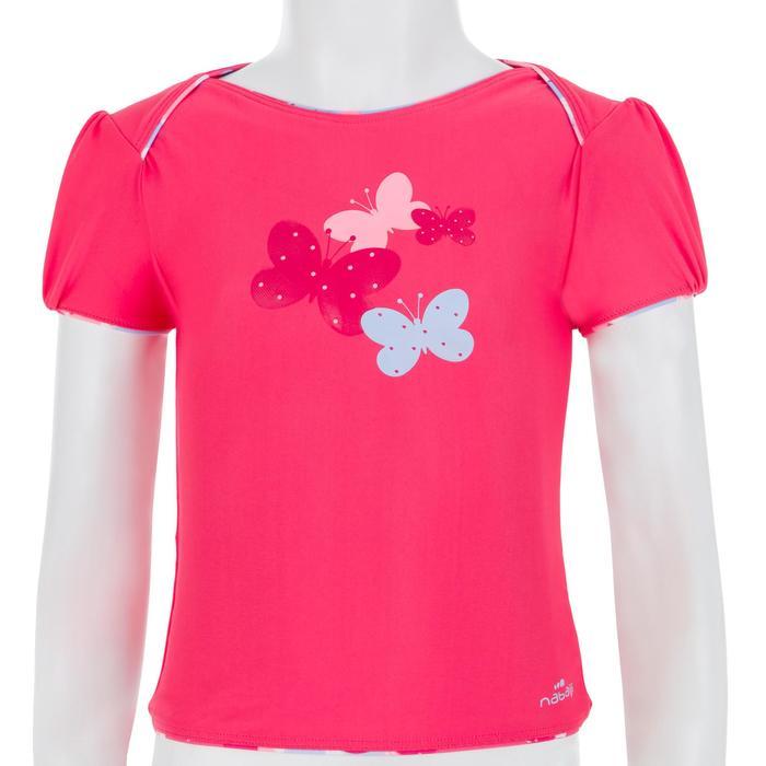 """Maillot de bain bébé fille tankini top rose avec imprimé """"papillons"""" - 1122147"""