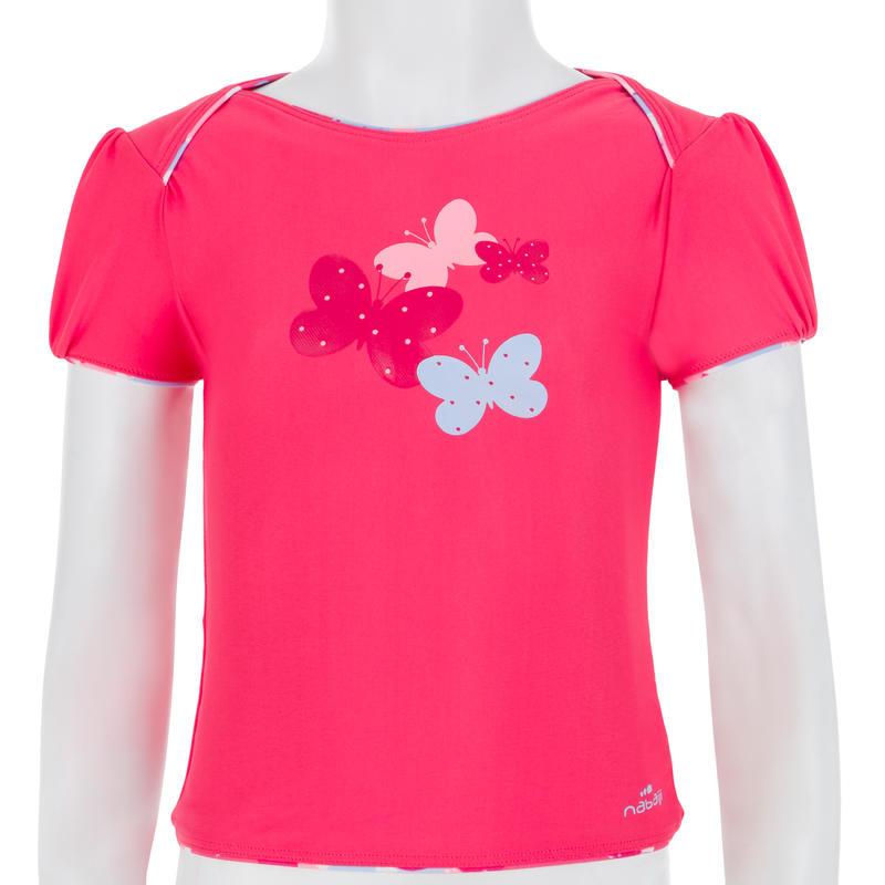 """Traje de baño para bebé niña tankini top rosa con estampado """"mariposas"""""""