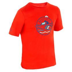 Uv-werend zwemshirt met korte mouwen kinderen surfen