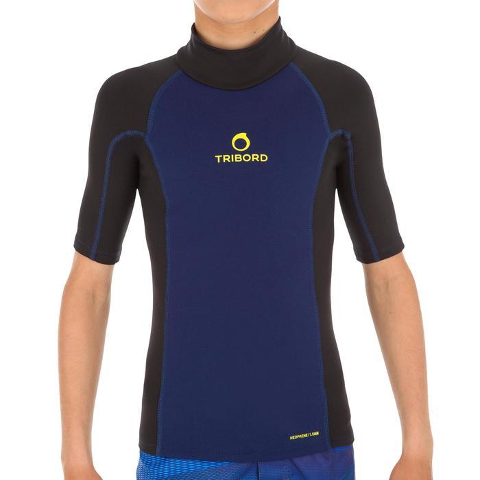 tee shirt anti UV surf top néoprène thermique manches courtes enfant - 1122610