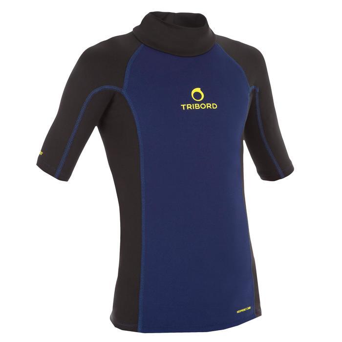 tee shirt anti UV surf top néoprène thermique manches courtes enfant - 1122621