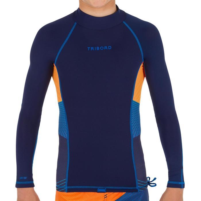tee shirt anti UV surf top 500 manches longues enfant - 1122631