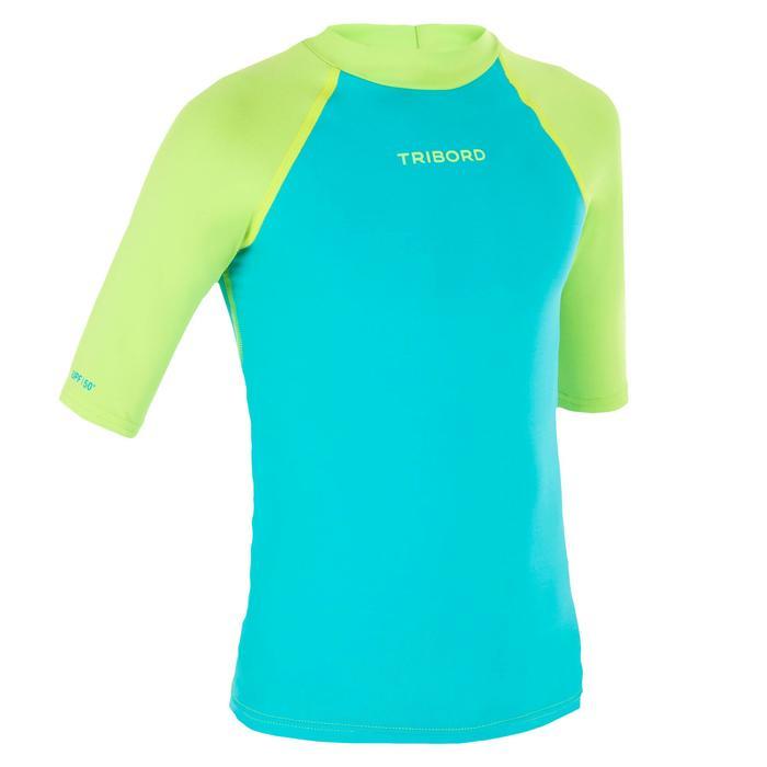 tee shirt anti uv surf top 100 manches courtes enfant - 1122652