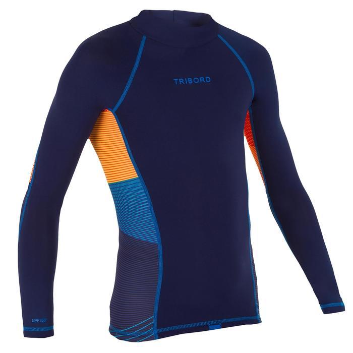 tee shirt anti UV surf top 500 manches longues enfant - 1122658