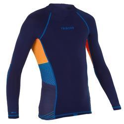 tee shirt anti UV surf top 500 manches longues enfant