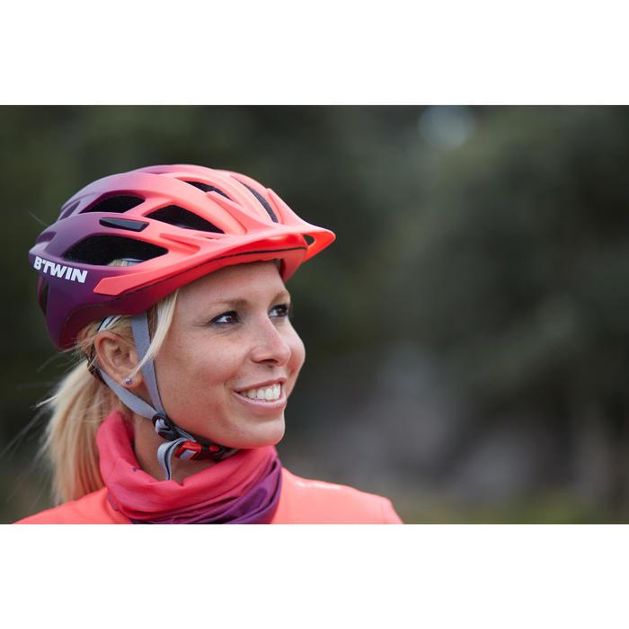 MTB-helm 500 dames roze/violet