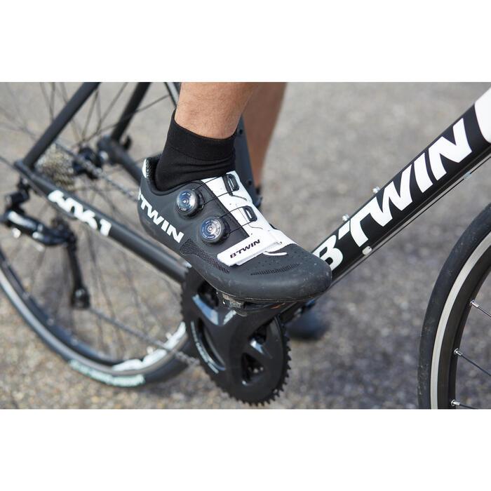 Zapatillas ciclismo 900 AEROFIT negro/blanco