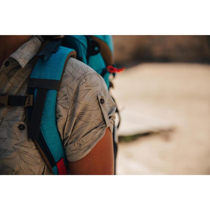 Chemise manches courtes trekking Arpenaz 500 femme beige imprimé - 1123043