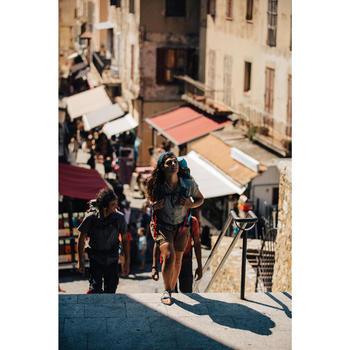 Chemise manches courtes trekking Arpenaz 500 femme beige imprimé - 1123100