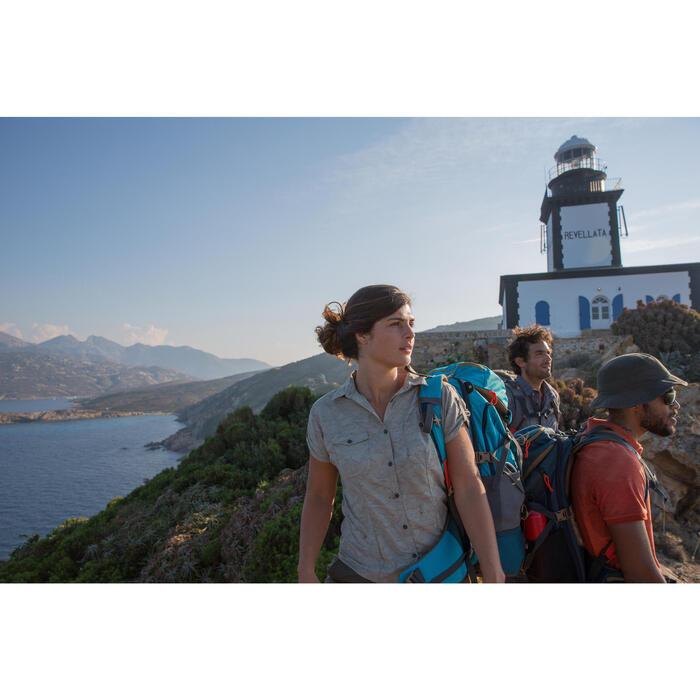 Chemise manches courtes trekking Arpenaz 500 femme beige imprimé - 1123109
