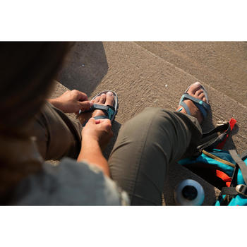 Sandalias Travesía Arpenaz 120 mujer azul claro