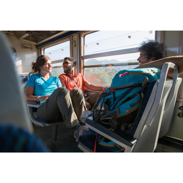 Sac à dos Trekking TRAVEL 500 Femme 50 litres cadenassable bleu - 1123116