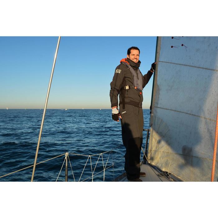 Peto Impermeable Regata Barco Vela Tribord Race 500 Hombre Gris