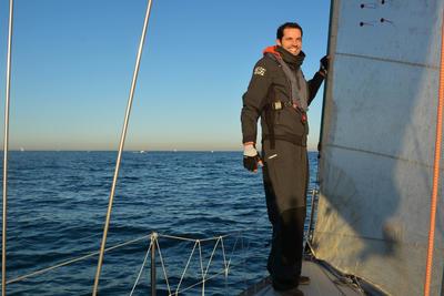 Race 500 Men's boat regatta Anorak - grey