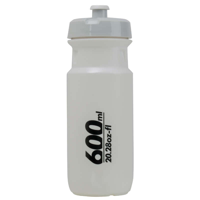 ROAD MTB BOTTLES - 600ml Cycling Water Bottle - White BTWIN