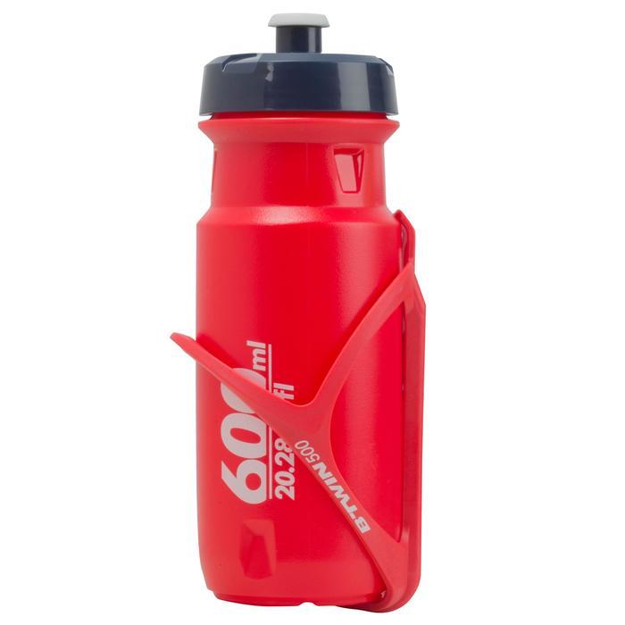 Bidón Ciclismo Btwin Rojo Flúor 600 ML