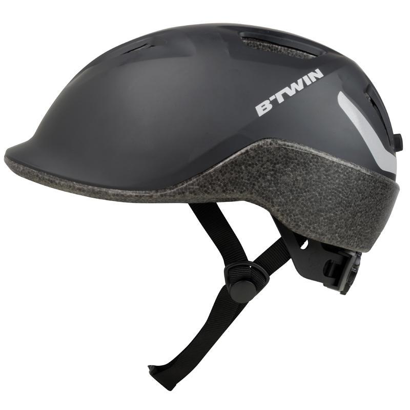 100 City Cycling Helmet - Black
