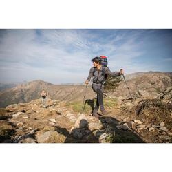 Topje voor bergtrekking Trek 500 merinowol dames zwart