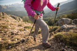Afritsbroek voor wandelen Forclaz 100 dames - 1123363