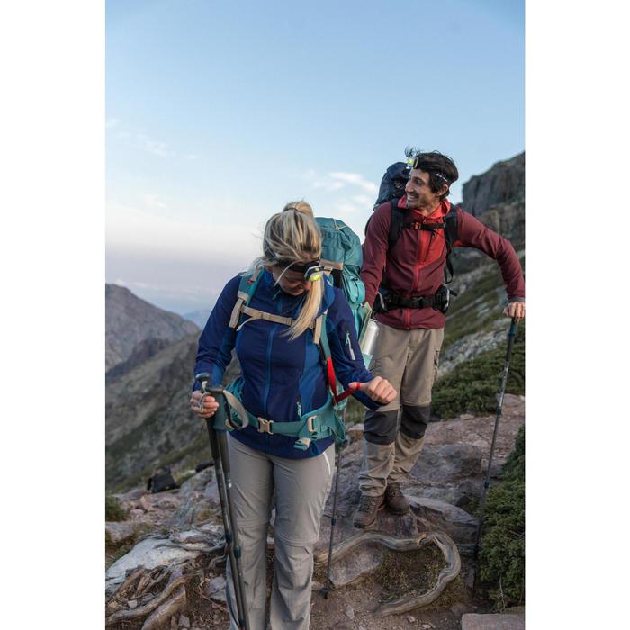 Pantalon modulable trekking montagne TREK 100 femme gris foncé - 1123365