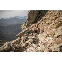 Bolsa Viaje de Montaña y Trekking Forclaz Extend de 80 a 120 Litros Amarillo