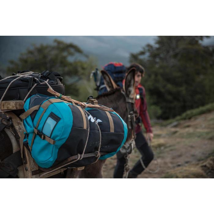 Bolsa de transporte viajes de trekking en montaña extensión de 40 a 60 L Azul