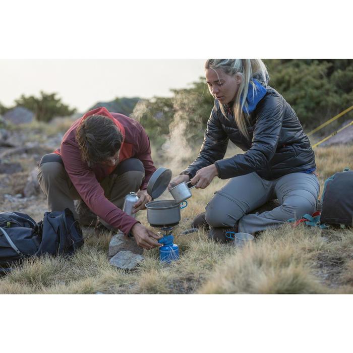 Pantalon modulable trekking montagne TREK 100 femme gris foncé - 1123391
