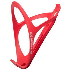 Portabidón Bicicleta Ciclismo Btwin Triban 500 Rojo Flúor Plástico