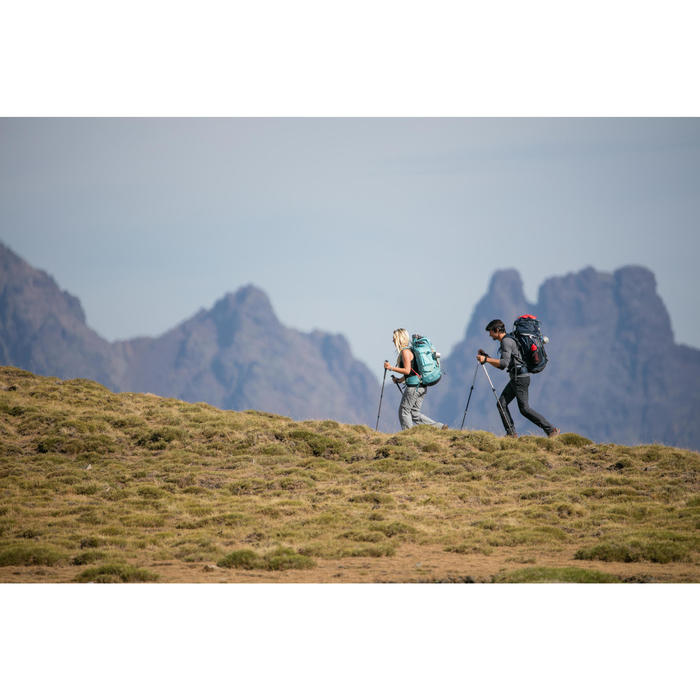 Merino topje voor bergtrekking dames Trek 500 zwart
