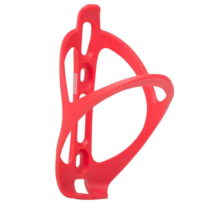 Portabidón Bicicleta Triban 500 Rojo Flúor Plástico