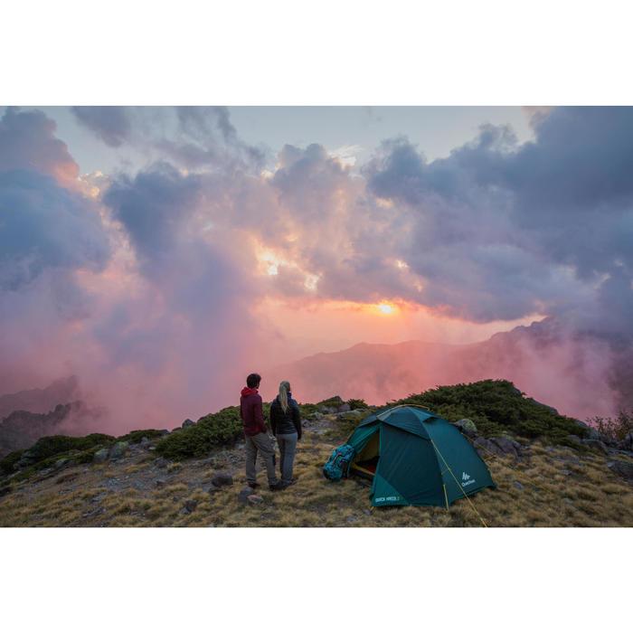 Chaqueta acolchada de trekking X-light 2 mujer negro